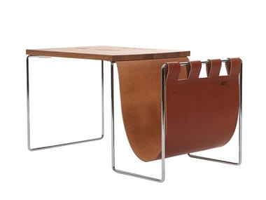 Coffee table with integrated magazine rack NL   Coffee table