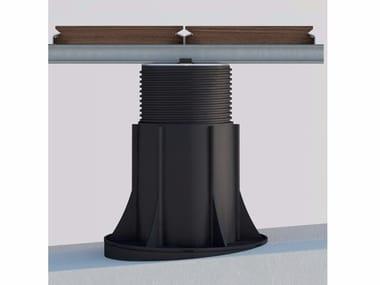 "Modular system for raised flooring ""NM"" support system for aluminium joist"