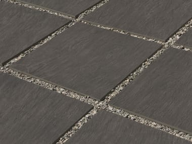 Porcelain stoneware outdoor floor tiles with stone effect NO-CODE 20mm