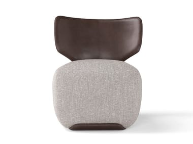 Upholstered easy chair with armrests NOA