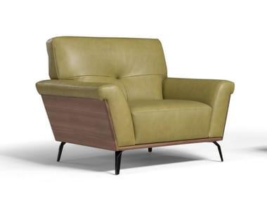 Leather armchair with armrests NOA   Armchair