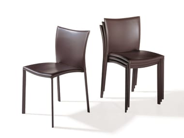Upholstered stackable chair NOBILE   Stackable chair