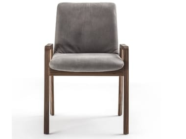 Upholstered chair with armrests NOBLÈ | Chair