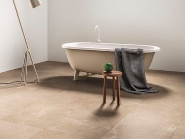 Porcelain stoneware wall/floor tiles with marble effect NOBLE ECRU