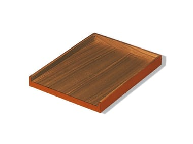 Tanned leather desk tray organizer NOCE | Desk tray organizer