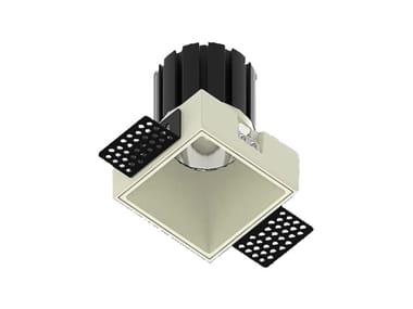 LED square recessed metal spotlight NOCE Q 15
