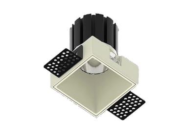 LED square recessed metal spotlight NOCE Q 9