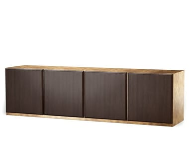 Wood veneer sideboard with doors NOCHE
