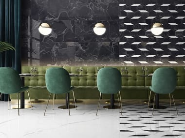 Porcelain stoneware wall/floor tiles with marble effect NOCTURNE