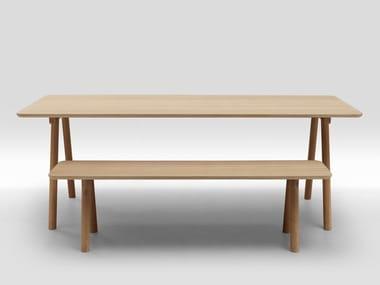 Multi-layer wood bench NODE | Bench