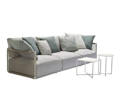 3 seater fabric garden sofa NODI SOFA   3 seater garden sofa