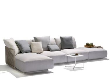 Sectional fabric garden sofa NODI SOFA   Sectional garden sofa