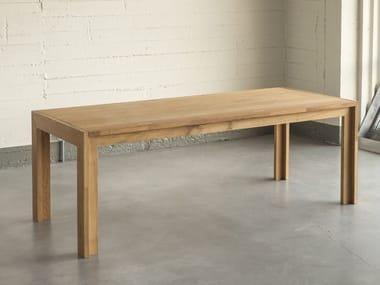 Rectangular solid wood table NODOO | Table