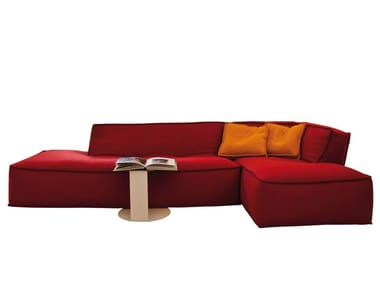 Sectional fabric sofa with removable cover NOE | Fabric sofa