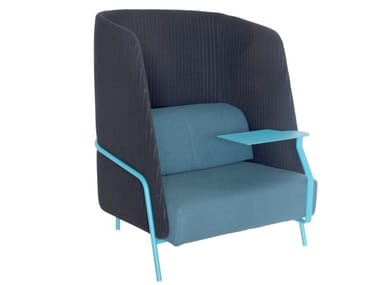 High-back fabric armchair NOLDOR | High-back armchair