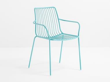 Sedia da giardino in metallo con braccioli NOLITA 3656
