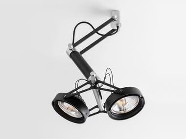 LED adjustable ceiling spotlight NOMAD 2XLED GI