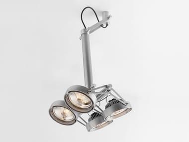 LED adjustable ceiling spotlight NOMAD 4XLED GI