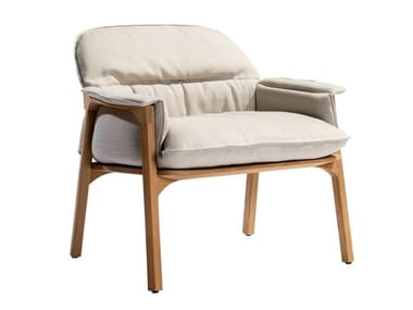 Fabric easy chair with armrests NOMAD | Easy chair