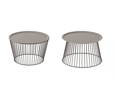 Round steel coffee table NOODLE