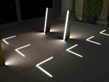 Outdoor luminous plate for floor installation NOOK