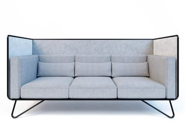 High-back fabric sofa NOOOK