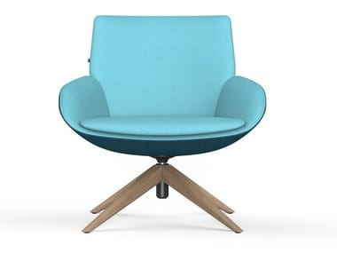 Trestle-based fabric easy chair NOOM | Trestle-based easy chair