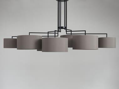 Fabric chandelier NOON 7
