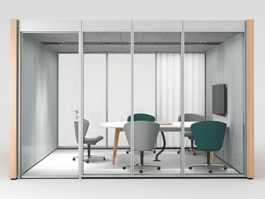 Acoustic meeting pod with built-in lights NOOXS THINK TANK