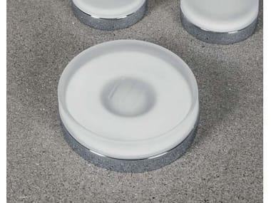 Porta sapone d'appoggio NORDIC   Portasapone in vetro acidato
