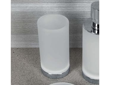 Porta bicchiere d'appoggio NORDIC   Portaspazzolino in vetro acidato