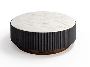 Coffee table with marble or leather top NORI