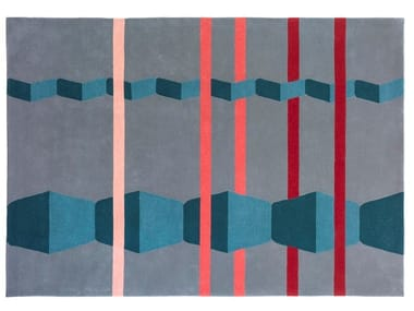 Patterned handmade wool rug NORIU