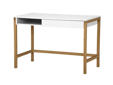 Lacquered rectangular writing desk with drawers NORTHGATE DESK