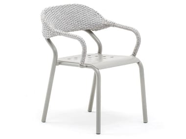 Stackable chair with armrests NOSS