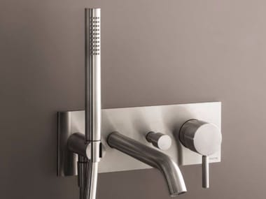 Wall-mounted bathtub mixer with hand shower NOSTROMO - D020A/E321B