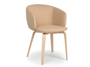 Upholstered fabric chair with armrests NOT MINI | Fabric chair
