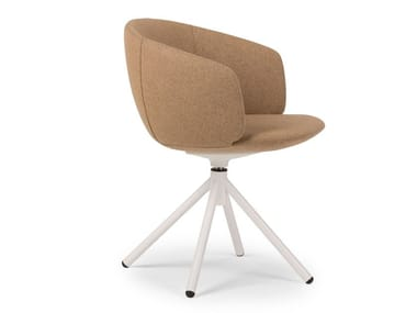 Swivel upholstered chair with armrests NOT MINI | Swivel chair