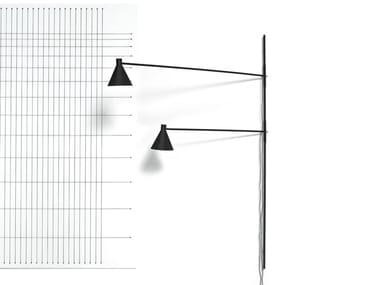 Lampada da parete in alluminio verniciato a polvere con dimmer NOTA | Lampada da parete