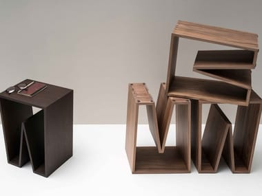 Wooden stool / coffee table NOTCH WOOD