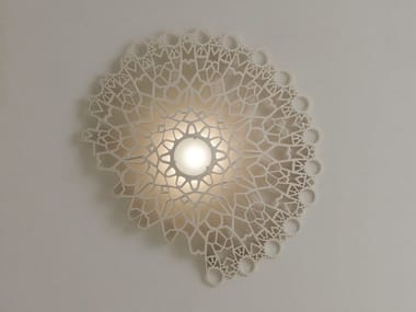 Lampada da parete a LED a luce diretta in marmo tecnico NOTREDAME | Lampada da parete