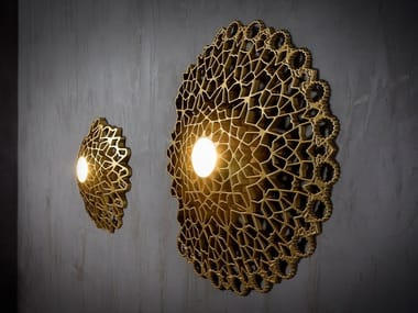 LED direct light cultured marble wall lamp NOTREDAME | Wall lamp
