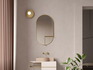 Contemporary Style Brass Bathroom Mirrors Archiproducts
