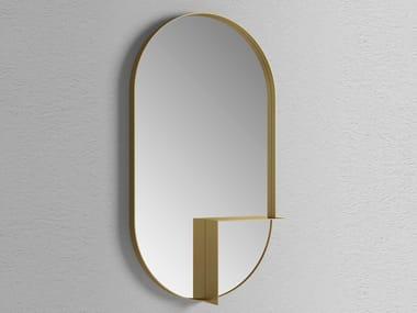 Espelho oval com prateleira de parede NOUVEAU SHELF