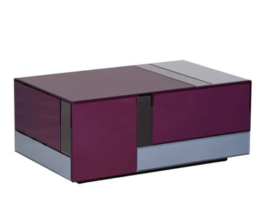Rectangular glass coffee table NOUVEAU TABLE LARGE