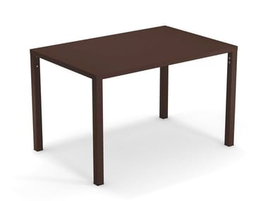Stackable rectangular steel table NOVA | Rectangular table