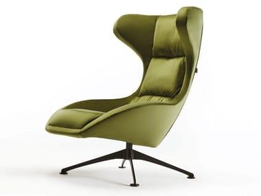 Swivel armchair with 4-spoke base NOVA | Armchair