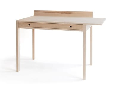 Rectangular ash writing desk NOVEMBER LIGHT