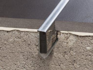 Stainless steel Flooring joint NOVOJUNTA® DECOR FLECHA ST. STEEL