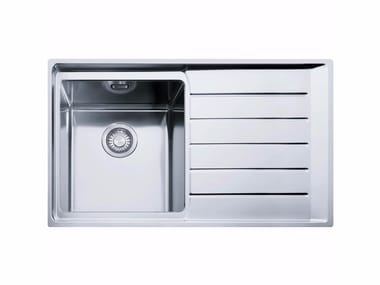 Single stainless steel sink with drainer NPX 611